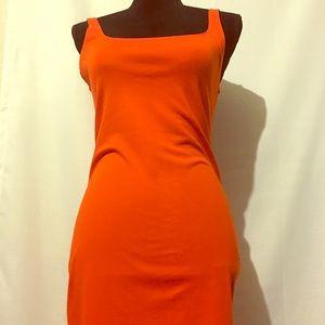 Zara orange Midi dress